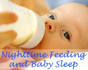 nighttime feeding and baby sleep