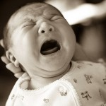 Colic baby crying