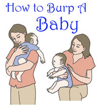 How to burp baby