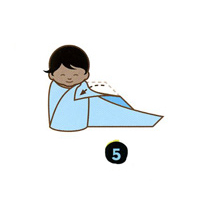 How to swaddle a newborn step five