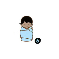 How to swaddle a newborn step six