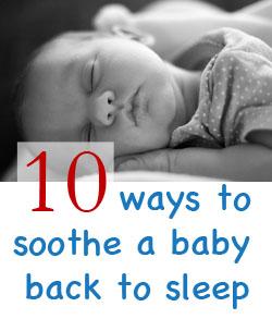 soothing baby back to sleep