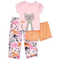 Carter's 3-pc. Cats Sleepwear Set