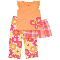 Carter's Flowers & Butterfly Sleepwear