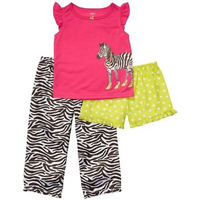 Carter's 3-pc. Zebra Sleepwear Set