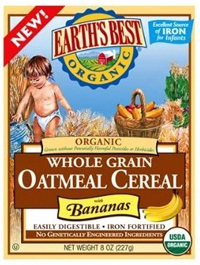 Earth's Best organic Baby Oatmeal Cereal