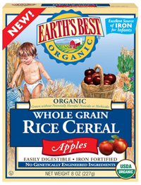 Earth's Best organic Baby Rice Cereal