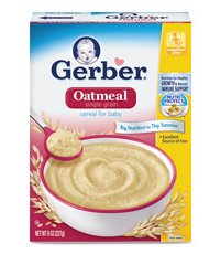 Gerber best baby oatmeal cereal