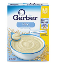 Gerber best baby rice cereal