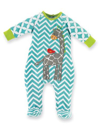 Newborn Safari Giraffe Sleeper Footie