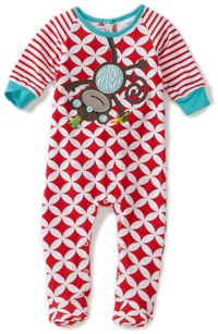 Mud Pie Newborn Safari Monkey Sleeper Footie