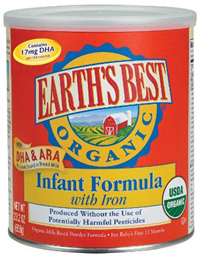 Earth's best organic baby formula