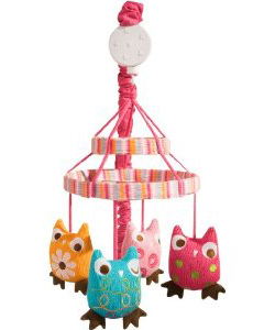 Owls Musical Baby Mobile