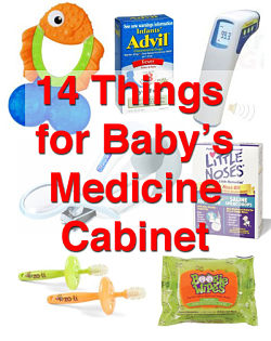 things for baby's medicine cabinet
