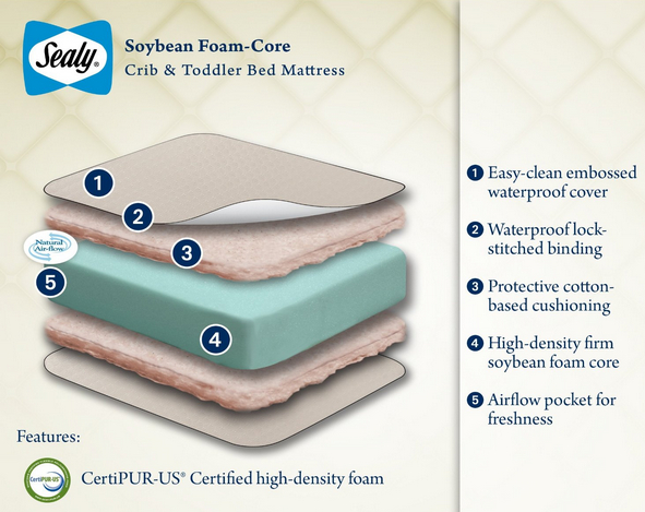 Sealy soybean core mattress