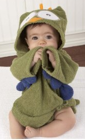 Owl baby bathrobe