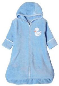 Terry baby bath robe