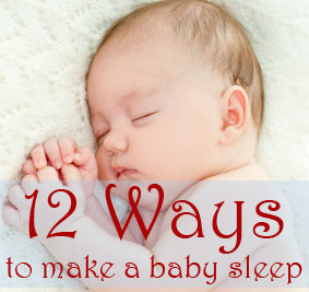 ways to make a baby sleep