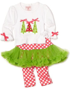 Baby christmas tree pajamas