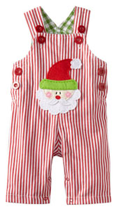 Santa Overalls for Baby