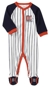 Baseball Pajamas for newborn