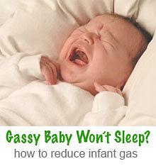 gassy baby won't sleep