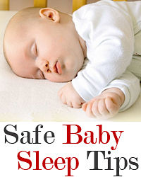 Baby safe sleep tips