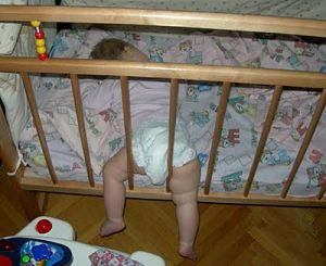 baby crib sleeping positions