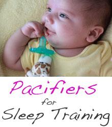 pacifiers for sleep training