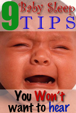 9 baby sleep tips you won't want to hear